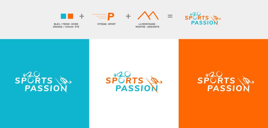 construction logo sports passion déclinaisons