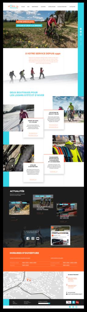 webdesign homepage sports passion la bresse