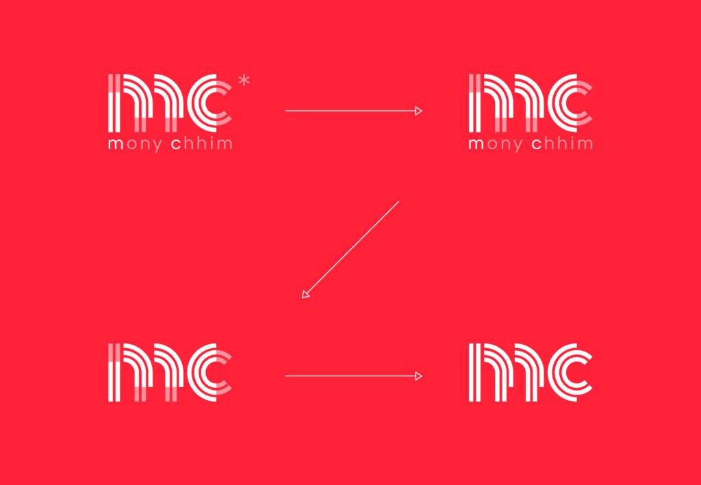 détail logotype identité visuelle mony chhim coaching