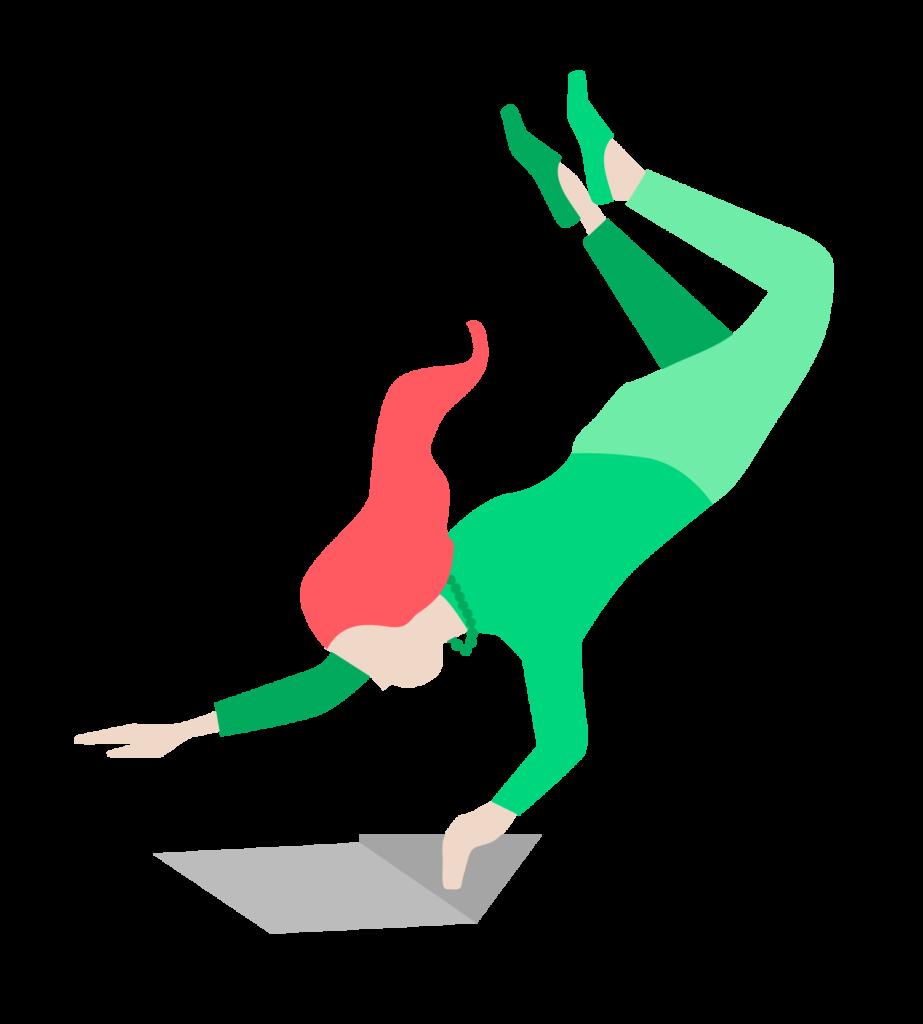 illustration femme volante monymakerz
