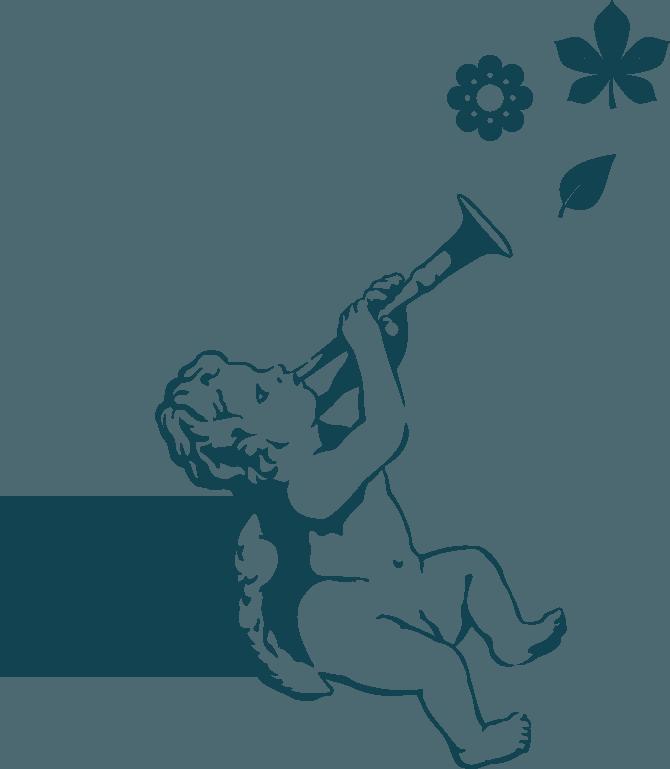 détail logo ange jardin